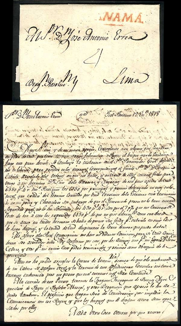 1818 Colonial Mail